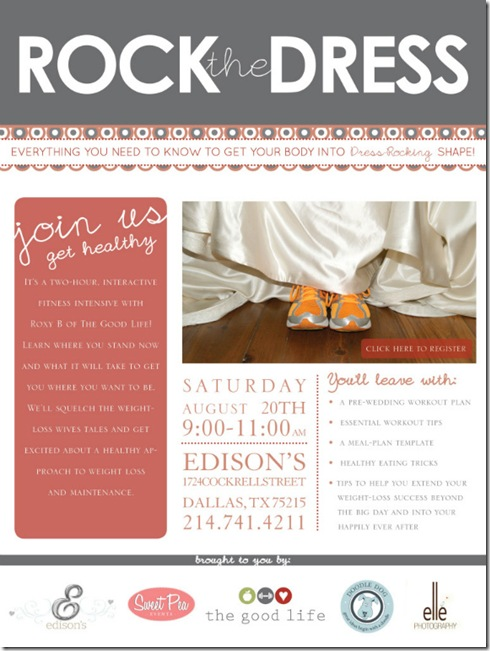 Wedding Boot Camp, Wellness Expo, Edison's Dallas, Doodle Dog Creative, The Good Life Texas, Pre Wedding Tips