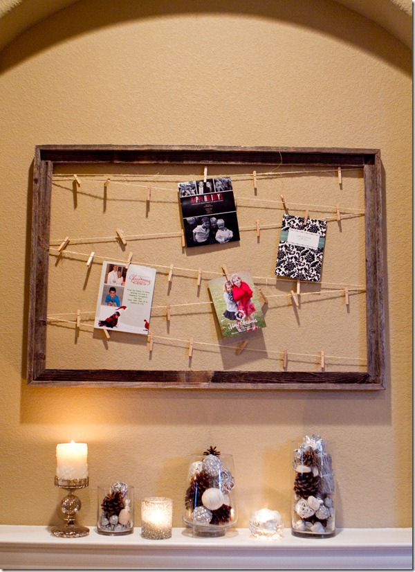DIY Christmas Decorations, Christmas Card Holder, Sweet Pea Events, Dallas Event Planner