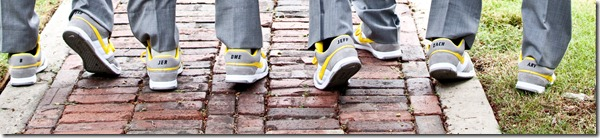 Nike Wedding Shoes, Dallas Wedding Planner, Yellow and Gray Wedding