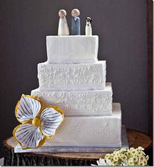 Sweet Art Bakery, Dallas Wedding Planner, Lyrics on Wedding Cake
