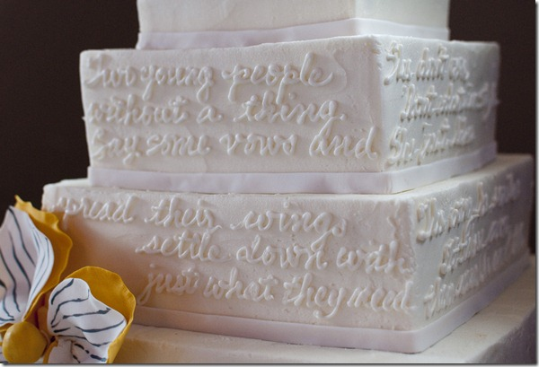 Lyrics on Cake, Dallas Wedding Planner, Sweet Art Bakery