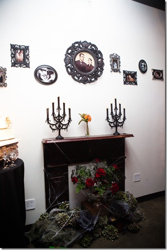 Haunted Mantle, Halloween Wedding, Halloween Decor, Dallas Wedding, DiFiori
