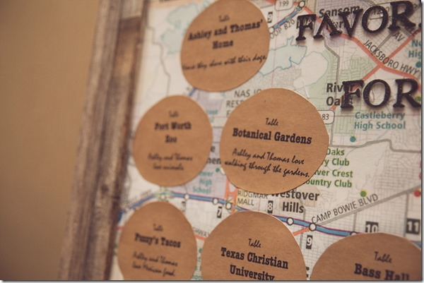 Table Names, Creative Table Names, Fort Worth Wedding, Fort Worth Wedding Planner