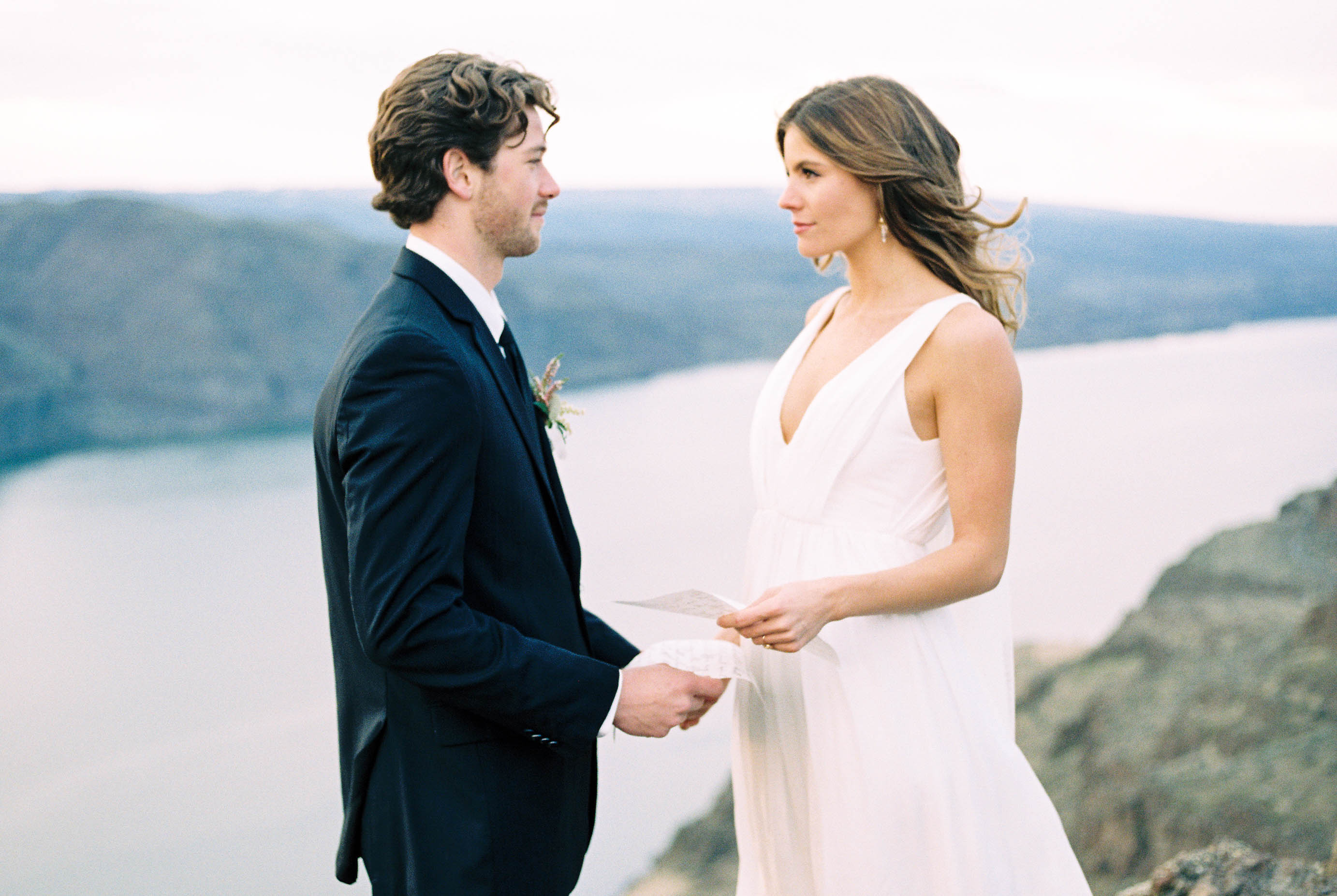 Elopement wedding vows