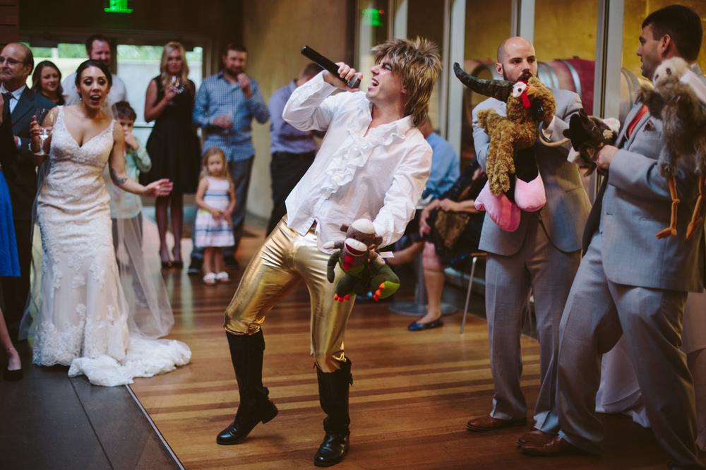 Seattle Wedding Planner reception David Bowie