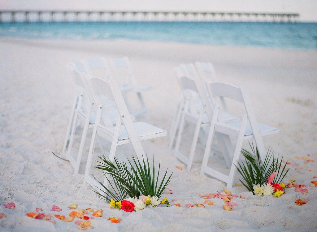 Pensacola Beach Ceremony seating on beach
