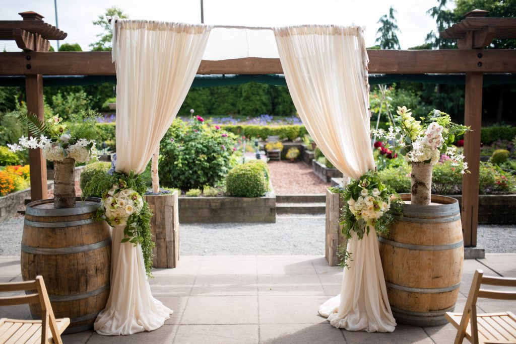 Ceremony Chuppa by Seattle Wedding and Event planner