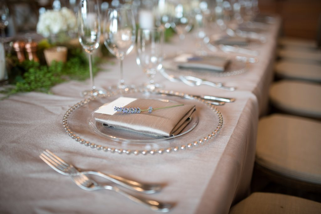 Table setting by Seattle Wedding Planner