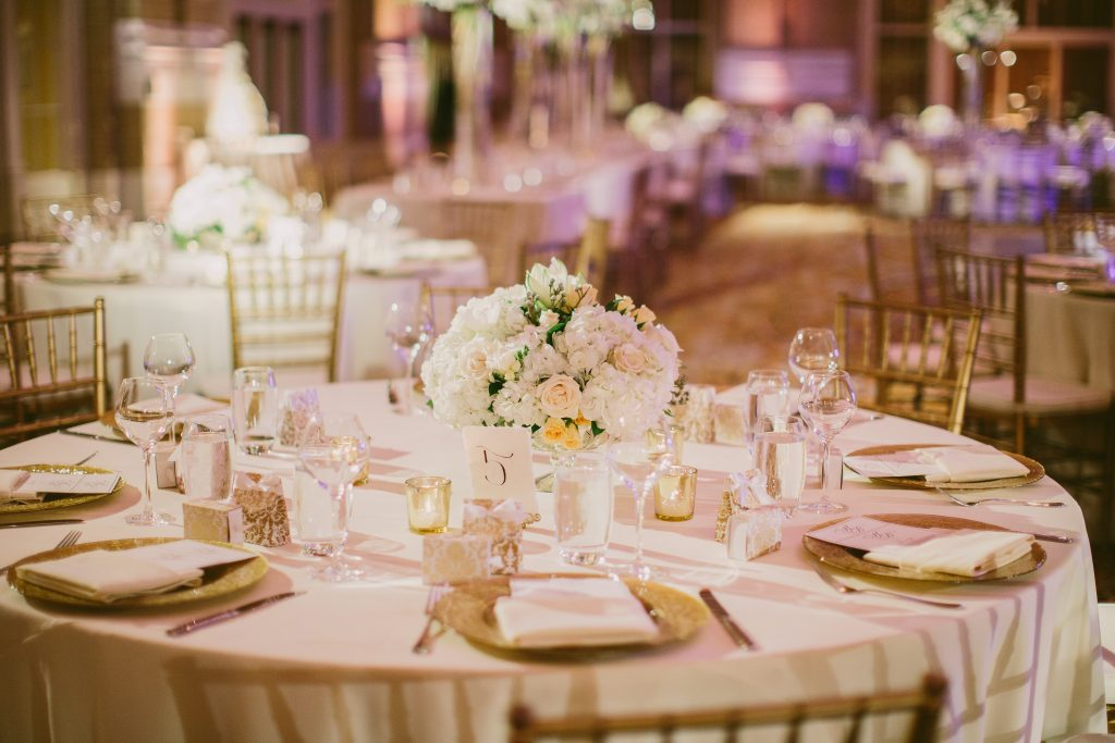 Dallas wedding planner table