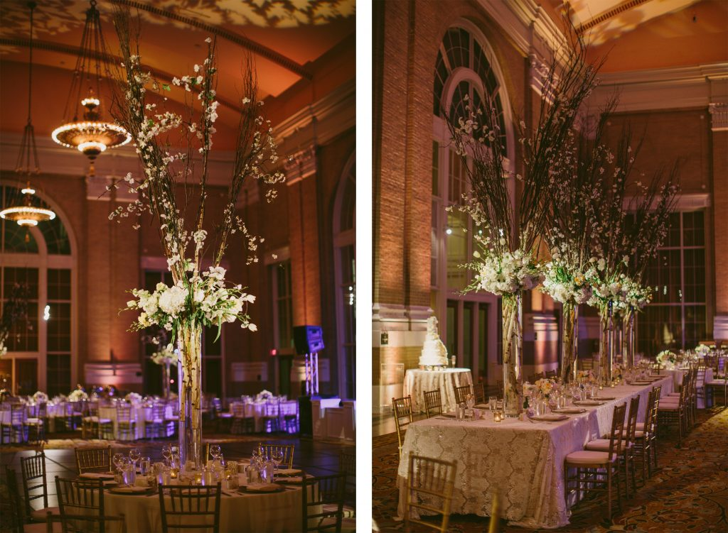 Beautiful centerpieces with Sweet Pea Events
