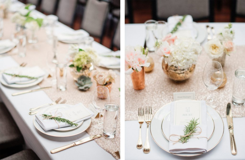 Reception wedding in Seattle coordinated by Sweet Pea Events