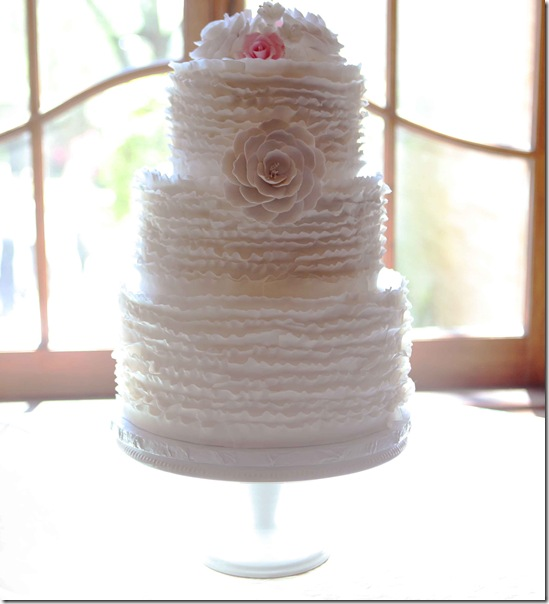 Dallas Wedding Planner, Vintage Wedding Ideas, Dallas Wedding Planners, Ruffled Wedding Cake