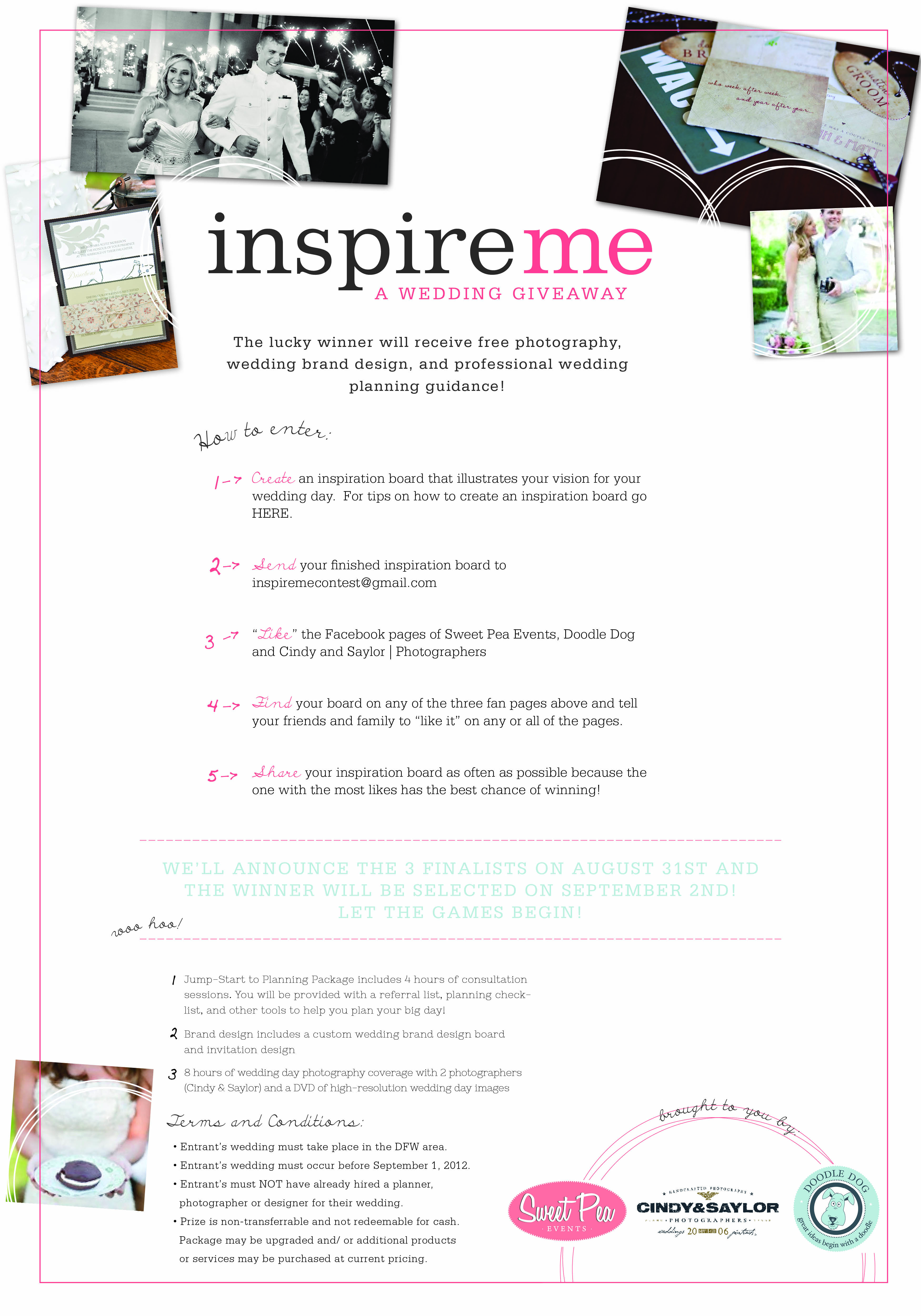 INSPIRE ME: Wedding Giveaway | Dallas and Seattle Wedding Planners ... Wedding Contests