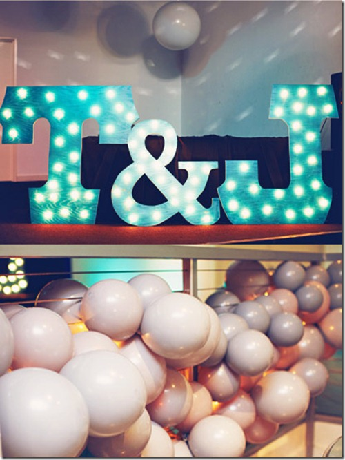 Giant Light Up Letters, Whimsical Wedding Decor, Dallas Wedding, Dallas Wedding Planner, eM The Venue
