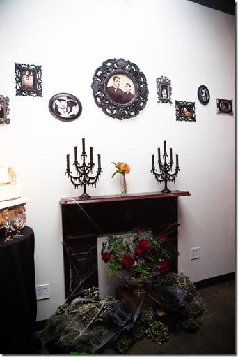 Haunted Mantle, Halloween Wedding, Halloween Decor, Dallas Wedding, DiFiori