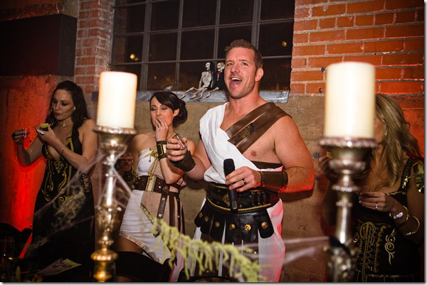 Gladiator Costumes, Dallas Wedding, Halloween Wedding