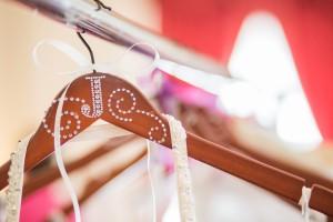 wedding, decorative hanger, wedding dress, rhinestones, wooden hanger