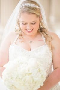 bride, wedding, flowers, white, wedding dress