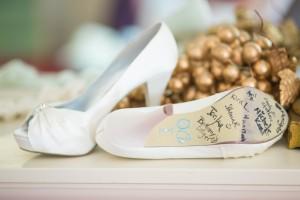 wedding shoes, I do, white heels, brides shoes, fun ideas