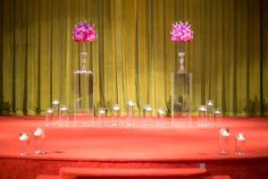 wedding, alter, ceremony, glass, flowers