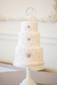 wedding cake, white cake, bride, groom, wedding