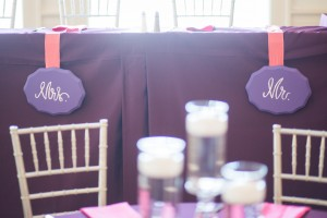 Mr. and Mrs., signs, reception, bride, groom