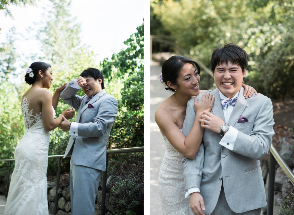 First Look Seattle Wedding