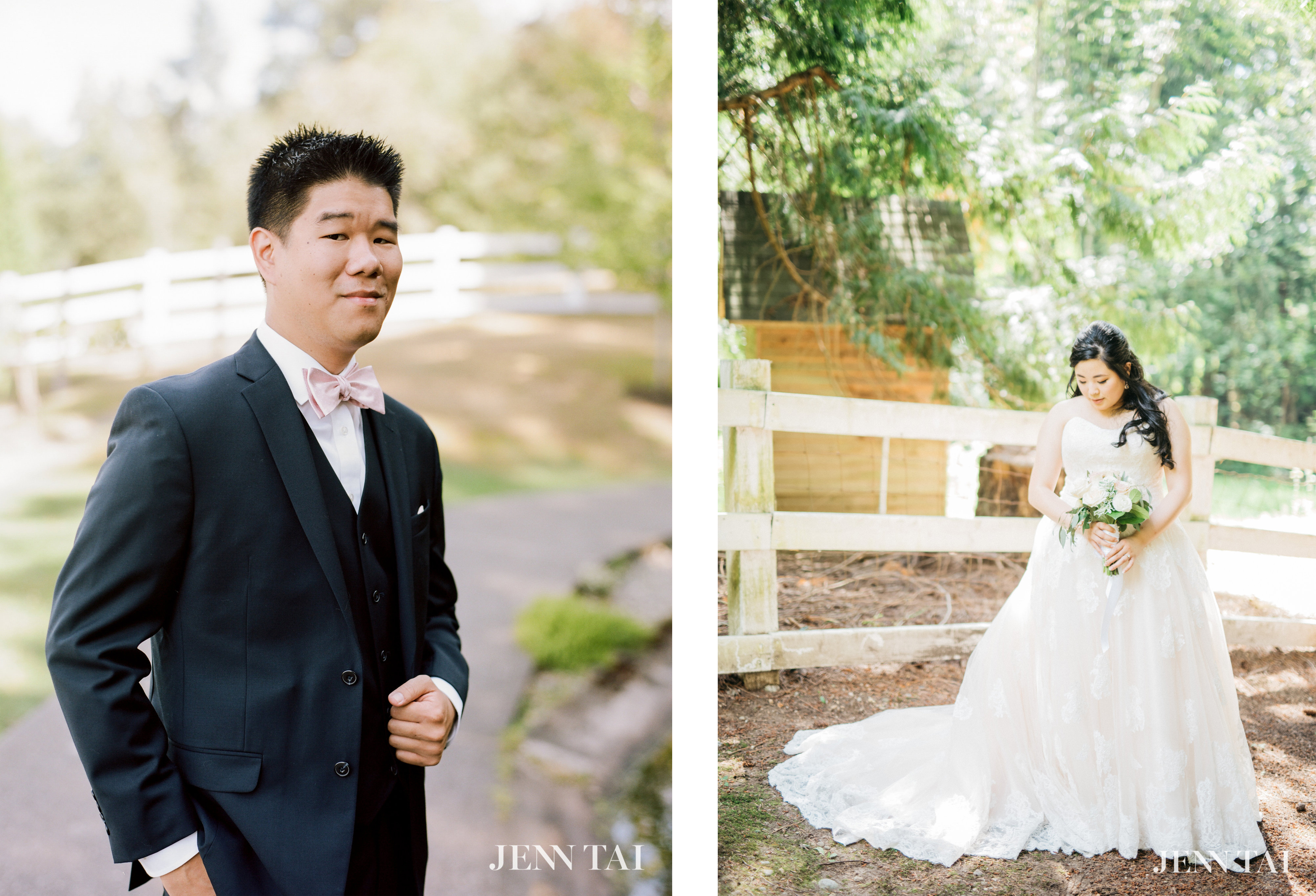 Photographer Jenn Tai Photography Planner Sweet Pea Events Ceremony Venue Holy Family Catholic Church Reception Delille Cellars