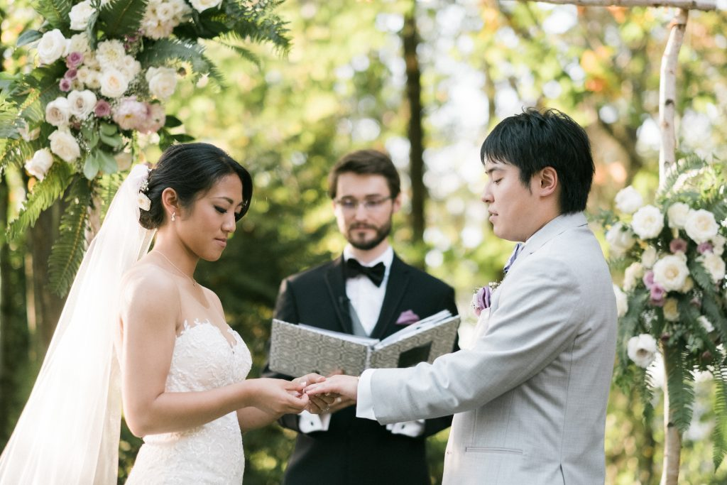 Vows at a Washington wedding