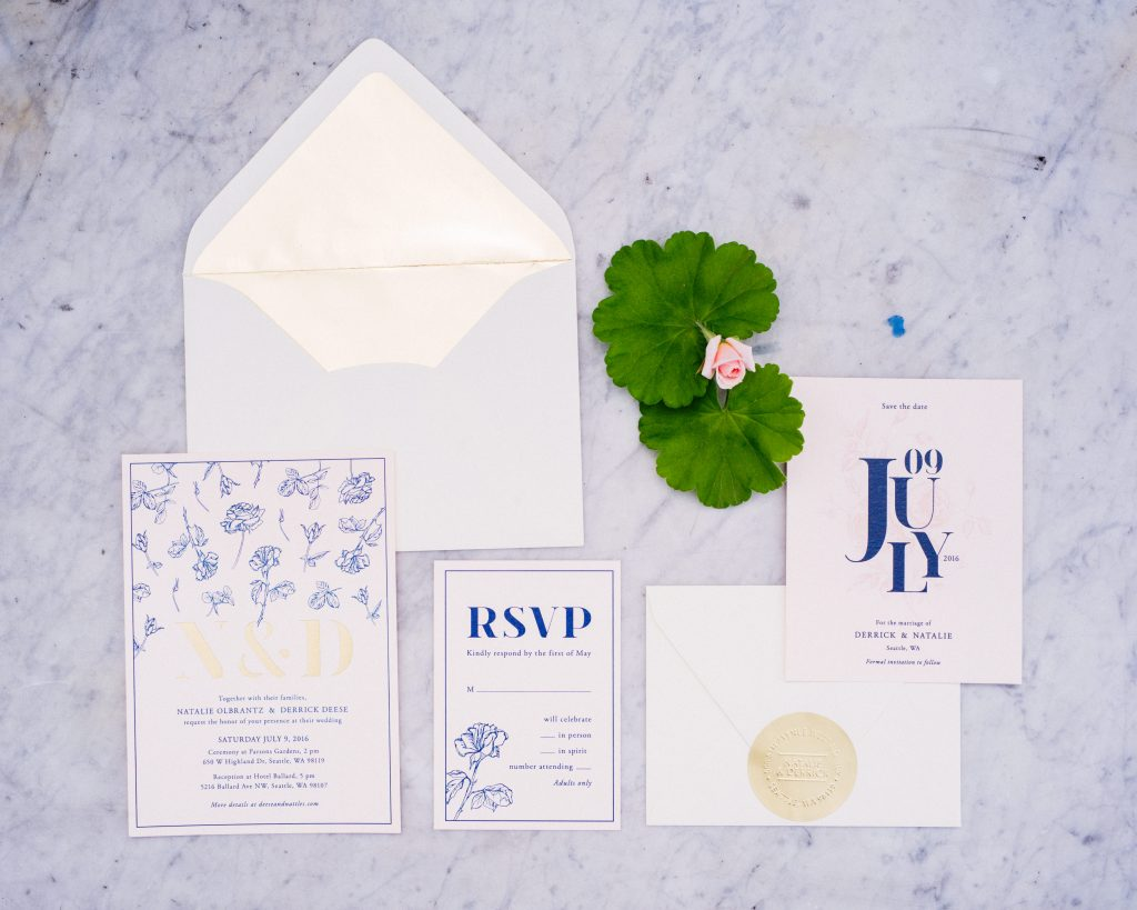 Stationery set wedding planner